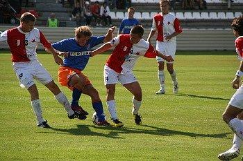 Fotbal HS Kroměříž - Ostrava B. Ilustrační foto.