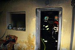 Požár domu v Chropyni