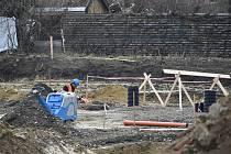 Výstavba parkovacího dommu v Kroměříži, únor 2021