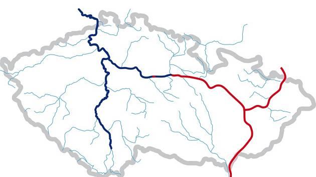 Schéma říčního koridoru
