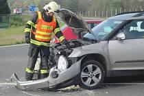 Dopravní nehoda u Holešova.