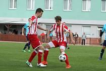 Fotbalisté Hulína zvítězili v 10. kole Fortuny MSFL nad Uherským Brodem 2:0 a v tabulce se díky lepšímu skóre dostali právě před sobotního soupeře. Foto: www.spartakhulin.com