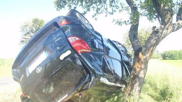 Dopravní nehoda u Blazic.