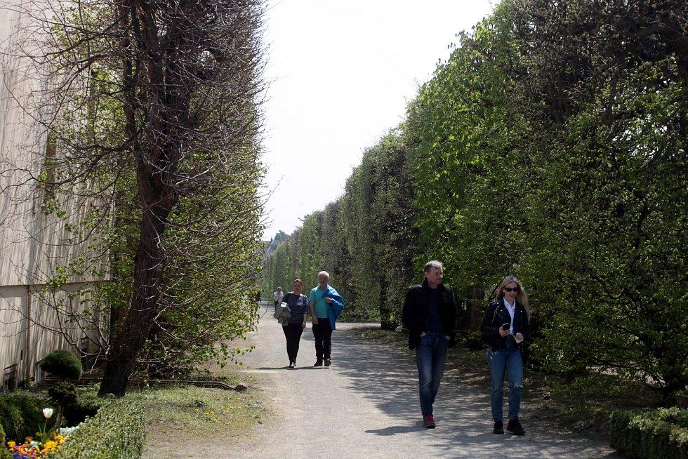Květná zahrada v Kroměříži 1. května 2021