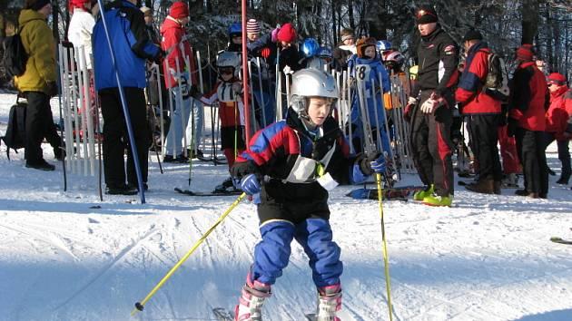 Tříkrálový závod v lyžování na Tesáku pro děti do patnácti let.