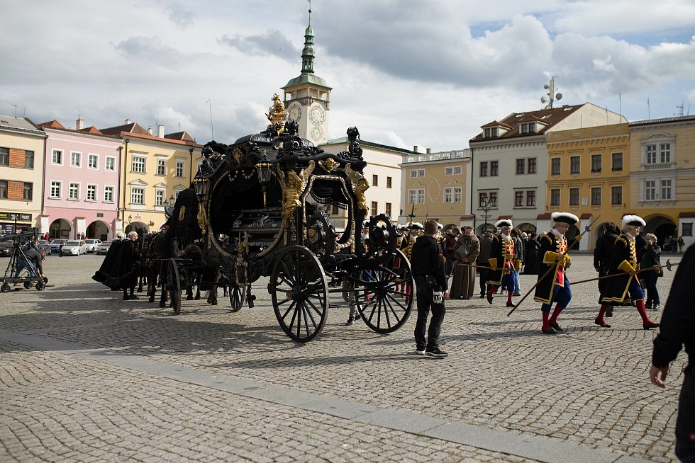 Natáčení Marie Terezie v Kroměříži, 6. května 2021