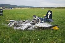 Na leteckém dni v Holešově havaroval ultralight, pilot zahynul