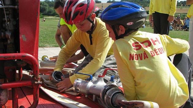 V sobotu 8. 8. 2009 se ve Kvasicích konala soutěž v požárním sportu, tentokrát se však utkaly pouze týmy dětí