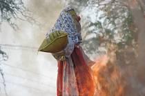 Akce pro děti spojená s tradičním pálením čarodějnic.
