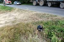 Tragická srážka motorkáře s traktorem u Koryčan