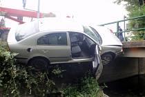 Řidič sjel mimo vozovku v Bystřici pod Hostýnem.
