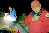 Pátraní po ztraceném běžkaři s dětmi v okolí Tesáku