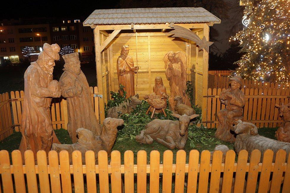 Vánoční strom a výzdoba ve Zlíně.