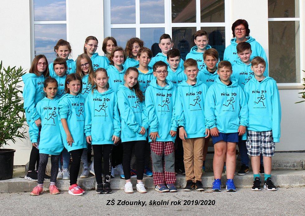 Páťáci ze Základní školy Zdounky.
