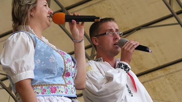 Na Velkém náměstí v Kroměříži zahrála ve čtvrtek 13. srpna při příležitosti promenádních koncertů dechová hudba Hulíňané.