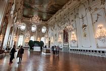Sněmovní sál v Arcibiskupském zámku v Kroměříži.