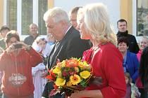 Miloš Zeman navštívil Kroměřížsko