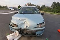 Dopravní nehoda u nájezdu na dálnici D1 u Kroměříže