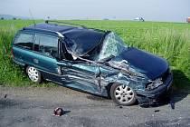 Dopravní nehoda u Koryčan.