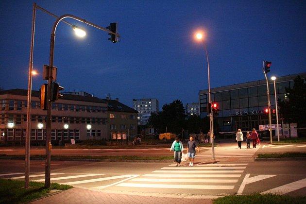 Takto svítí v Kroměříži.