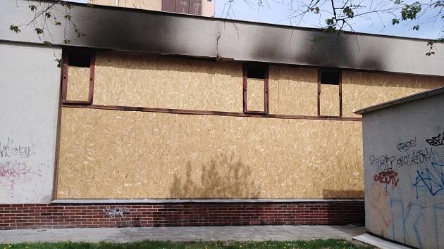Objekt bývalé kotelny necelý měsíc po požáru, při kterém byli nalezeni dva mrtví.