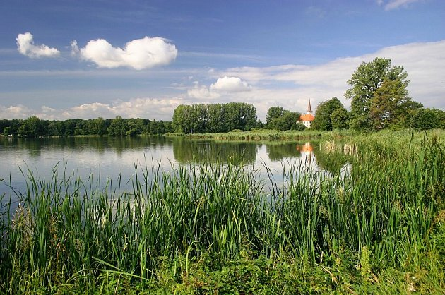 Chropyňský rybník.