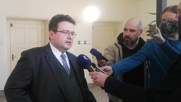 Právník žalující strany (Arcibiskupství olomouckého) Stanislav Hykyš po prohraném soudním sporu.