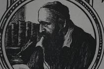 Umělecký portrét rabína Šacha.