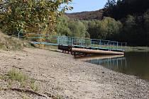 Rusavská přehrada na podzim 2018