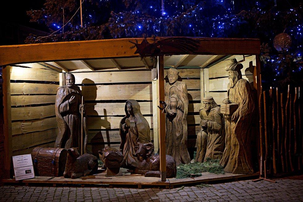 Vánoční strom a výzdoba v Uherském Hradišti.