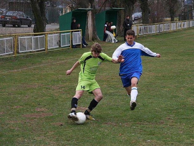 Hráči Ludslavic (v modrém). Ilustrační foto.
