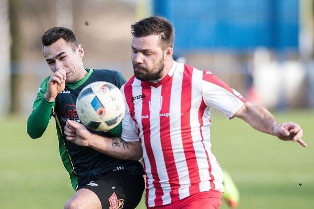 Záložník Hulína Michal Šrom rozhodl sváteční utkání s Uherským Brodem a užil si prodloužený víke