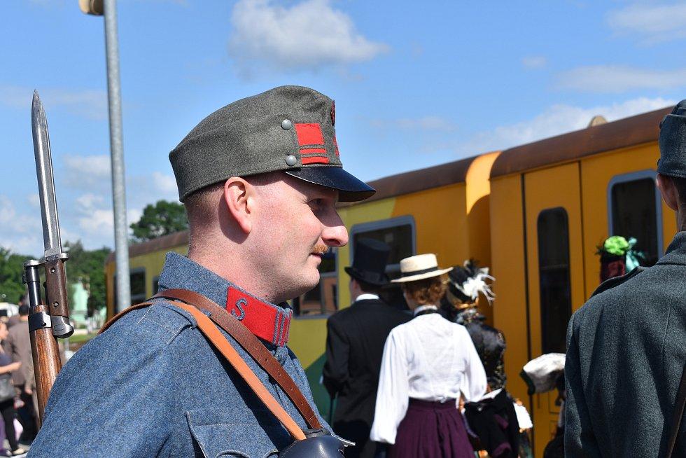 Oslavy 140 let dráhy na trati Kroměříž - Zborovice.
