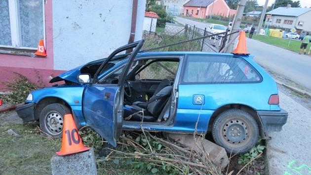 Smrtelná dopravní nehoda v Morkovicích.
