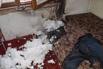 K požáru došlo v rodinném domku v Chropyni na Kroměřížsku obývaného bezdomovci.