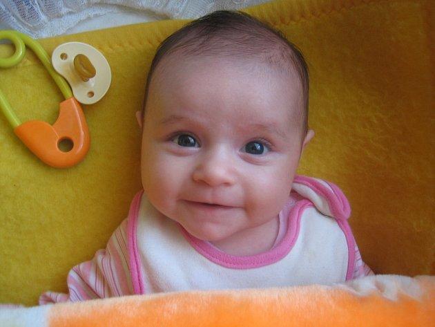 Denisa Vrbecká, 1. 9. 2007, porodní míry: 3,20 kg, 49 cm, Kvasice