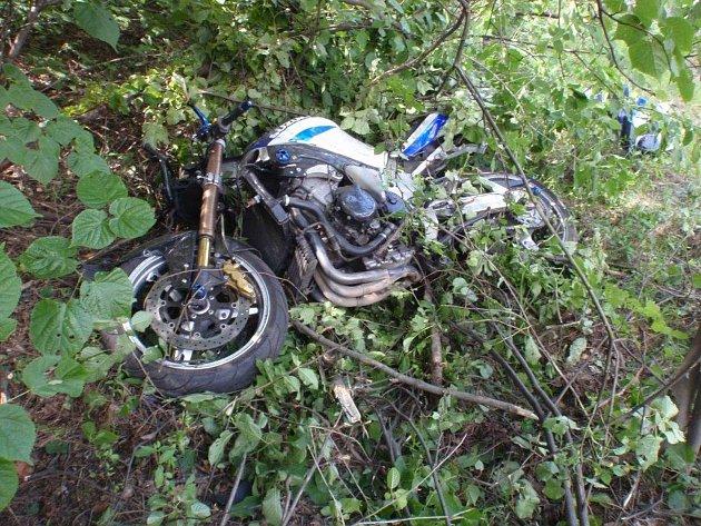 Dopravní nehoda motorkáře u obce Zástřizly