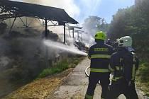 Požár haly v Koryčanech, 6. července 2021
