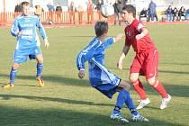Spartak Hulín (v červeném). Ilustrační foto.