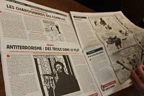 V sekretariátu kroměřížské radnice je k nahlédnutí časopis Charlie Hebdo, který přivezla europoslankyně Olga Sehnalová.