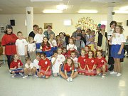Ve třídu obecné školy se v minulých dnech proměnila jedna z jídelen Domova pro seniory U Moravy v Kroměříži.