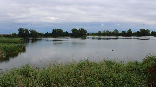 Rybník v Chropyni.