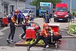 Karlovický sbor dobrovolných hasičů pořádal soutěž v požárním sportu.