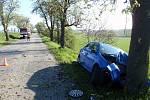 K dopravní nehodě došlo v pondělí kolem sedmé hodiny ráno nedaleko Střílek.