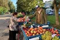 Trh v Kroměříži.