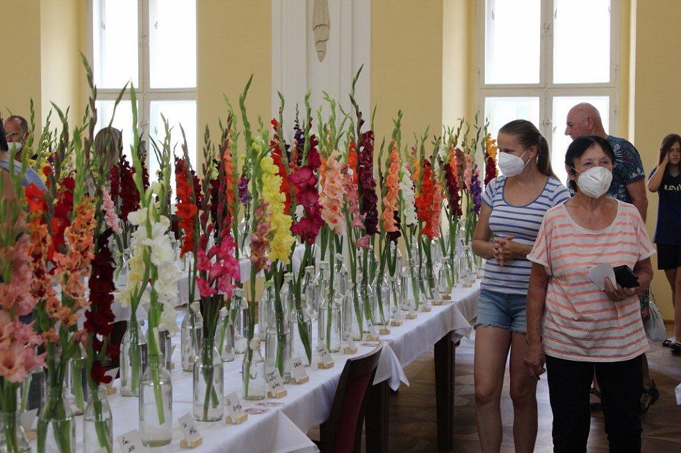 Holešovský zámek zaplavily květy mečíků