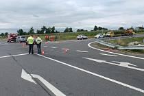 Dopravní nehoda na křižovatce u Bezměrova. Ilustrační foto