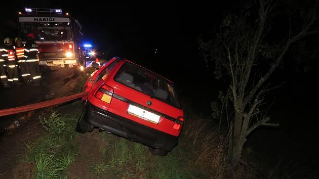 Nehoda auta v Koryčanech.
