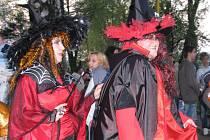 V Količíně u Holešova přivítali v sobotu 26. dubna 2008 jaro tradičním pálením čarodějnic.