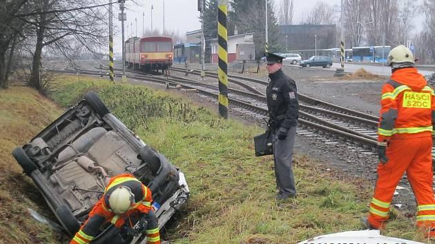 Nehoda na přejezdu v Bystřici pod Hostýnem
